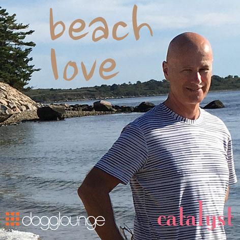 photo of dj catalyst standing on rocky beach