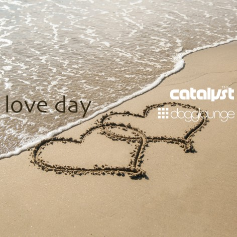 podcast cover art with heart-shaped drawings in beach sand